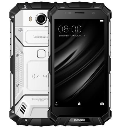 DOOGEE S60 Lite - 5.2 Pulgadas FHD Impermeable 4G Smartphone, 5580mAh batería Fast Charge (Carga inalámbrica Compatible), 1.5GHz Octa Core 4GB + 32GB, 8MP + 16MP, NFC GPS Metal Frame - Plata
