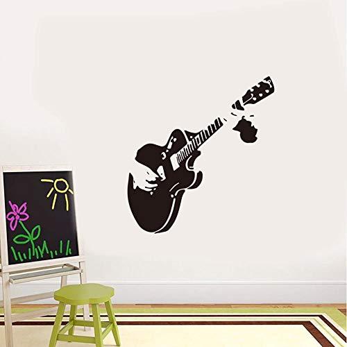 Tfsulengcl Gitarren-Wandaufkleber für Wohnzimmer, Musik, Zimmer, Restaurant, Vitrine für Zuhause, Dekoration, Wandbild, kunstvolle Aufkleber, geschnitzte Aufkleber