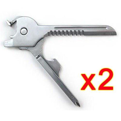 Preisvergleich Produktbild Tenflyer New 6 in 1 Utili-Key mini multi Werkzeug Schlüsselring-Taschen-Edelstahl-Messer-faltender Messer Swiss Tech Einfach