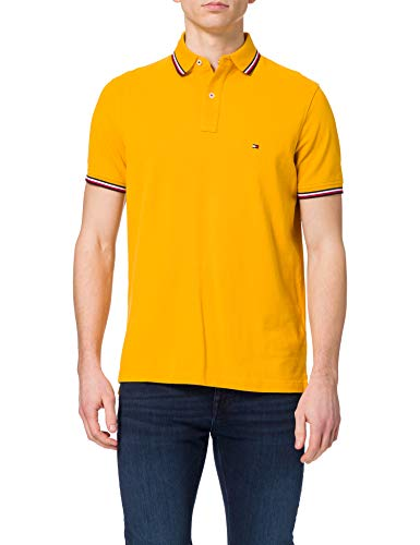 Tommy Hilfiger Tommy Tipped Slim Polo, Courtside Giallo, L Uomo
