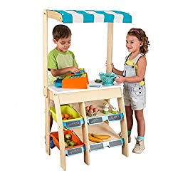 Best wooden toys for toddlers and preschoolers featured by top Seattle mommy blogger, Marcie in Mommyland: image of a grocery marketplace