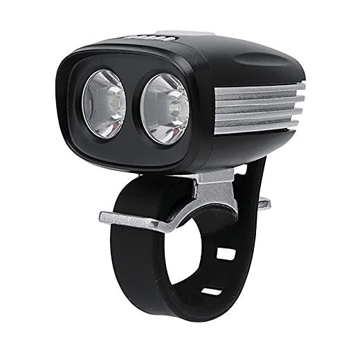 FGKLU 1800 Lúmenes 5 Luz Modos Brillo Alto Impermeable Luz Bicicleta, IPX6 Agua Prueba Luces Delantera Bicicleta, para Carretera y Montaña- Seguridad para la Noche
