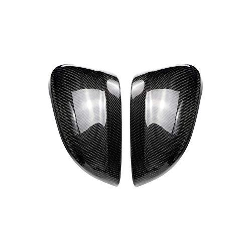 DSEB Cubiertas de Espejo, para Audi A4 B9 2016 + A5 B9 2017 + Tapas de ala Lateral de Carbono Ajuste de decoración de reemplazo