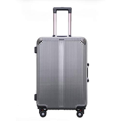 XinFeng Trolley Aluminiumrahmen 20 Zoll Koffer 26 Zoll Große Kapazität Leichte Männer Und Frauen Studentenkoffer Dunkelgrau 26