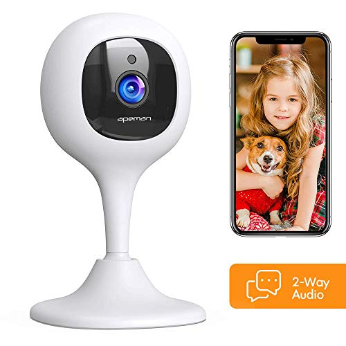 [2020 New] APEMAN Baby Monitor Camera with Crying Alerts and 2-Way Audio 1080P WiFi Home Security Camera with Motion Detection Night Vision, Compatible with Alexa/Cloud Service/iOS and Android System Monitors
