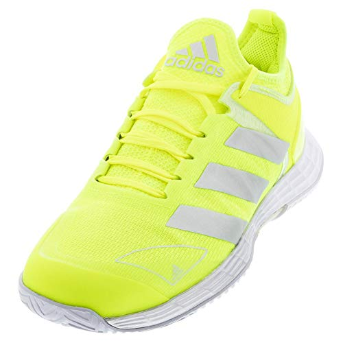 adidas Women`s Adizero Ubersonic 4 Tennis Shoes Solar Yellow and Silver Metallic (9.5)