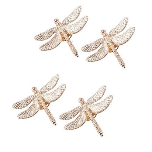 Luluxing - 4 pomelli decorativi in stile creativo a forma di libellula, per cassetti e armadi, per mobili