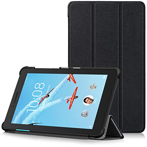 TTVie Case for Lenovo Tab E7 - Ultra Slim Lightweight Smart Shell Stand Cover for Lenovo TAB E7 7 Inch Tablet 2018 Release, Black