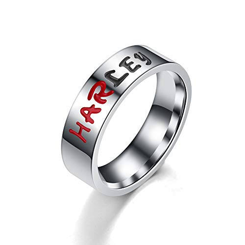 BICMTE New Harley Quinn and The Joker Lover Couple Stainless Steel Wedding Rings - Jewelry The Joker Harley Quinn His and Hers Ring,Anniversary