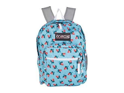 "Trans By Jansport Supermax Strawberry Harvest Blue Topaz 17"" Backpack"