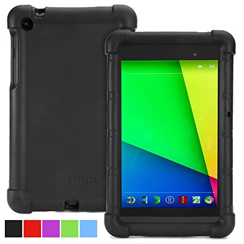 Google Nexus 7 2013 Case - Poetic Google Nexus 7 2013 Case [Turtle Skin Series] - [Corner/Bumper Protection] [Grip] [Sound-Amplification] Protective Silicone Case for Google Nexus 7 2nd Gen 2013 Black (3 Year Manufacturer Warranty From Poetic)
