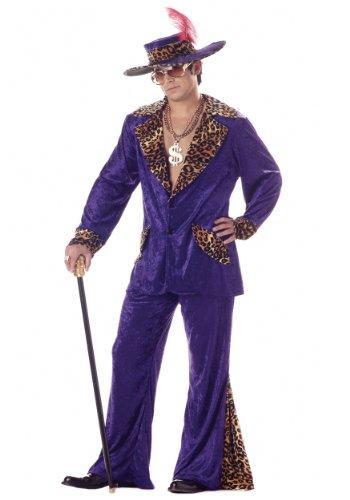 California Costumes - Morado Disfraz de años 1970s chulo retro para hombre