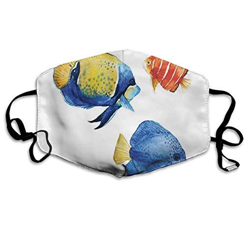 Tropical Aquarium Life Discus vis en goudvis, in verschillende patronen bedrukte mouth cover voor volwassenen