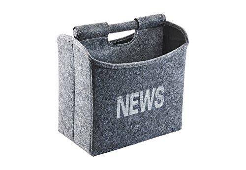 Kobolo Zeitungsständer aus Filz platzsparend faltbar 31x19x31 cm