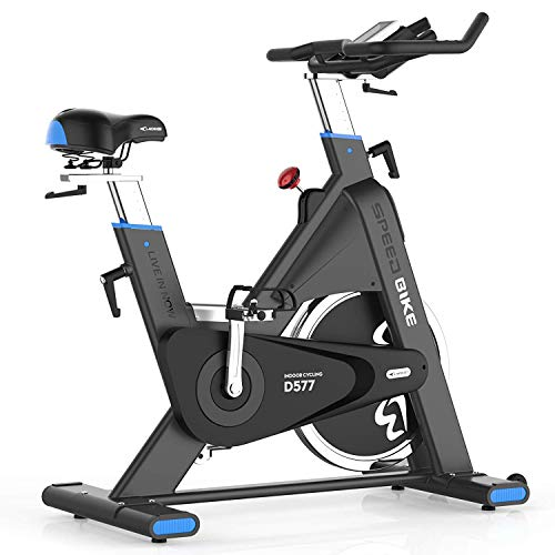 Why Choose L NOW Indoor Cycling Bike, Belt Drive Indoor Exercise Bike, Stationary Bike LCD Display w...