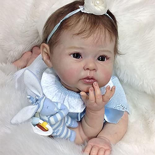 Hengqiyuan 22 Pulgadas 55 cm Bebés Renacidos Muñecas Realistas como Muñecas Bebés Reales Niña Muñeca Pequeña,A