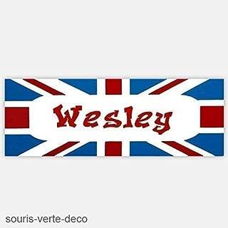 gar/çon Plaque de porte drapeau anglais avec pr/énom d/éco chambre enfant ado fille