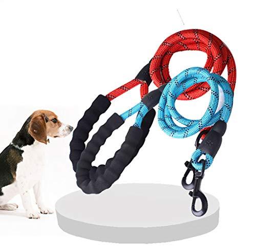 Hondenlijnen, diameter van de afdekking van de hond kan de lijn reflecteren, geschikt voor middelgrote en grote honden, met gevoerde handgreep, als je 's nachts gaat (2 verpakkingen met 9 kleuren).