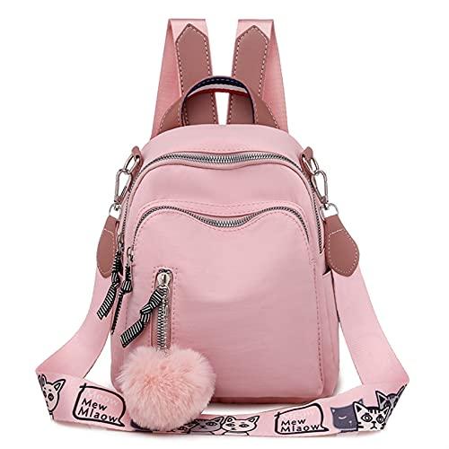 DEWTOP Mochilas Tipo Casual Pequeña Mochila Mochila Mochila Bolsa de la Moda Coreana Viajar Oxford Back Pack para Adolescente Mochilas Hombre (Color : Pink)