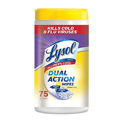 75-Count Lysol Dual Action Disinfecting Wipes  $4.98 at Amazon