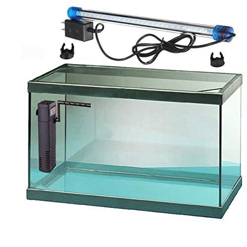RADYS Acuario PECERA 35 litros con Filtro Y LUZ LED