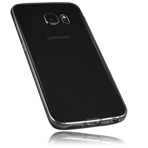 mumbi Hülle kompatibel mit Samsung Galaxy S6 Edge Handy Case Handyhülle dünn, transparent schwarz