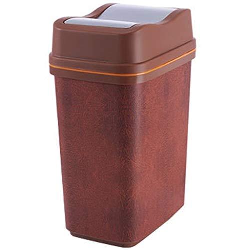 TOUCH TOP BIN/stofzuiger/vuilnisemmer/keuken/huis/kunststof-10 l bruin