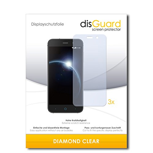 disGuard 3 x Schutzfolie ZTE Blade V6 Bildschirmschutz Folie DiamondClear unsichtbar
