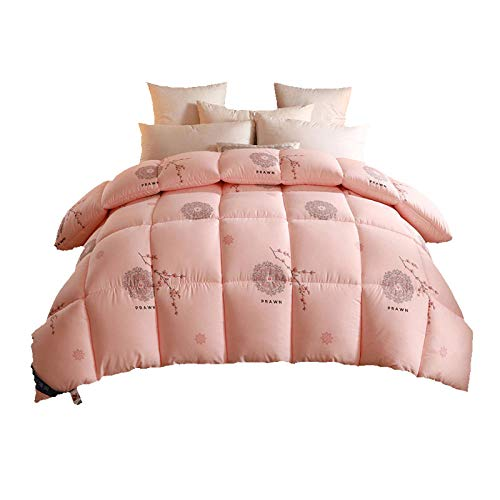 Hahaemall Duvets King Size 4.5 Double duvet Four-Season Goose Down Feather Duvet, King,Night Comfort Feels Like Down Extreme Warm Anti Allergy-A_150x200cm-2000g