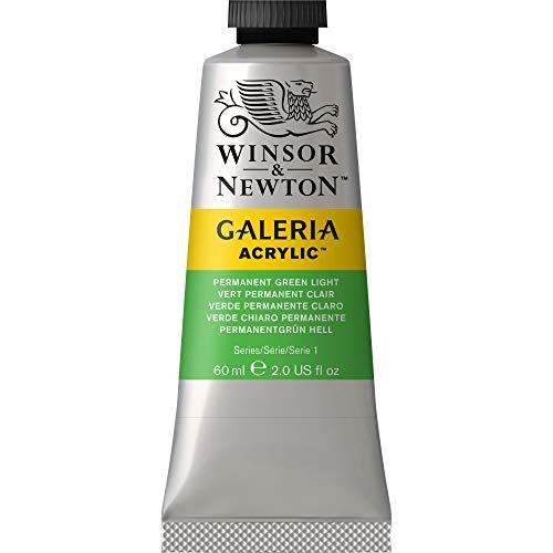 Winsor & Newton Galeria Acrylic Paint, 60-ml Tube, Permanent Green Light, 2 Fl Oz