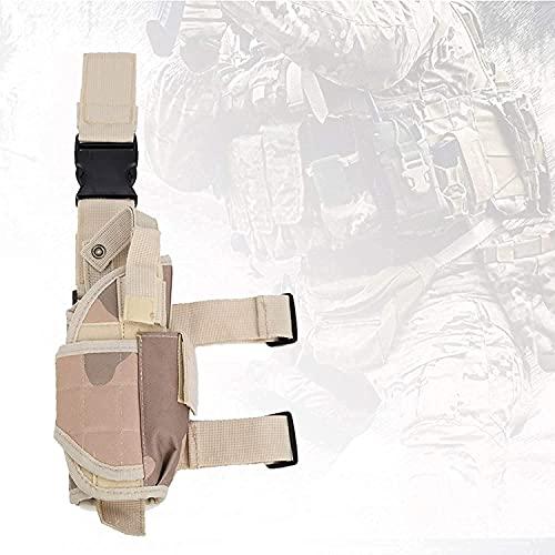 XJYXH Airsoft Funda, Bolsa de pierna de gota con palo mágico, pistola táctica universal Pistola Pistola Pistola de combate Airsoft Cintura, Bolsa de piernas para paintball, juegos militares, t