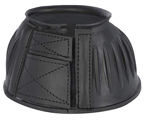 Kerbl 3211614 - Campanas de goma para saltar (2 unidades, cierre de velcro), color negro