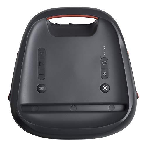 JBL PartyBox 100 in Schwarz – Tragbarer Bluetooth Party-Lautsprecher mit Lichteffekten – Spritzwassergeschützte, mobile Musikbox mit Netzteil - 6