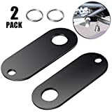 2 Pieces Motorcycle Bell Hangers Motorcycle Luck Riding Bell Hangers and 2 Pieces Split Rings, Fits for Any Bells, Compatible with (Black)