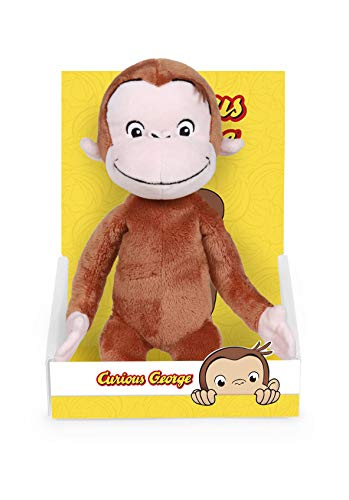 Famosa Softies - Curious George Abominable Movie Dreamworks Carattere Peluche, 25 cm, Colore Multicolore, 760018212