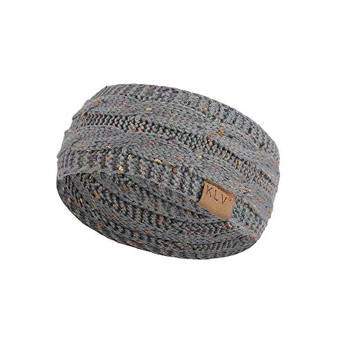 HGWXX7 Unisex Men Women Winter Warm Beanie Sport Hair Band Turban Skiing Knitted Cap Ear Warmer Headbands(1PC-Gray)