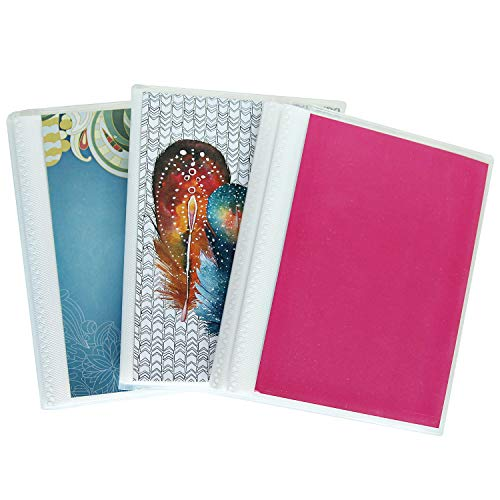 CocoPolka 4 x 6 Photo Albums Pack of 3 - Watercolors, Each Mini Photo Album Holds Up to 48 4x6 Photos. Removeable, Flexible Covers.