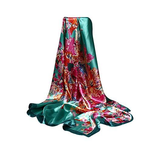 DEBAIJIA Mujeres SedaBufanda Chales Envolturas Pañuelo Suave Bufandas 90 * 90 cm