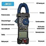 JOAUIAX 2021 Nueva Pinza Amperimétrica Digital,6000 Cuentas Rango Auto TRMS multímetro 600A AC Corriente,600V AC/DC Voltaje Amperím etro con prueba de continuidad/resistencia/diodo/frecuencia-JMC01