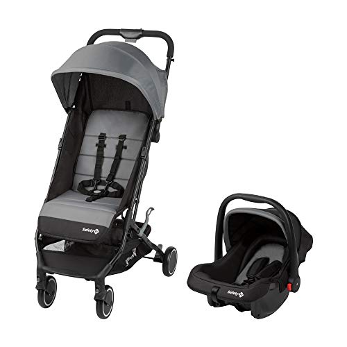 Safety 1st 1959139000 Safety 1st 2-in-1 Buggy Soko, zusammenklappbarer Kinderwagen inkl. Gr. 0+ Babyschale und Adaptern, black grey, grau 8 kg