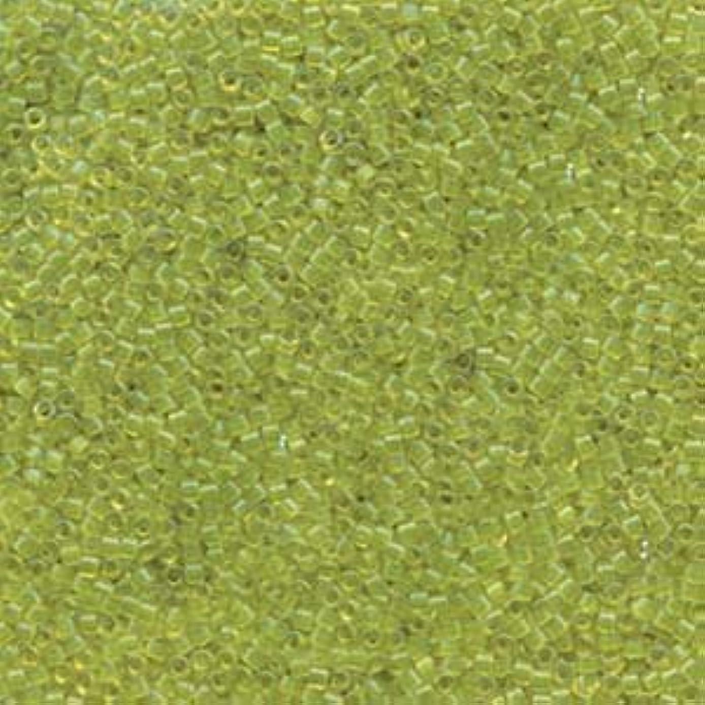Miyuki Delica Seed Beads 11/0 Transparent Lime 7.2 Gram DB1106