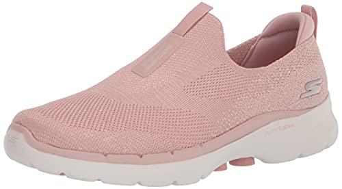 Skechers GO Walk 6 Glimmering, Zapatillas Mujer, Pink, 39 EU