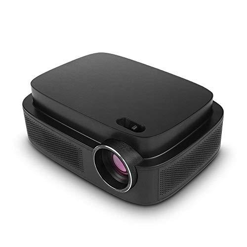 OHHG Mini Caja Pantalla proyector, Mini proyector LCD Cine casa 1080P 5.8 Pulgadas, Proyector Cine casa Bluetooth Full HD, Soporte HDMI, VGA, TV y USB, Proyector inalámbrico 1920 x 1080P Android
