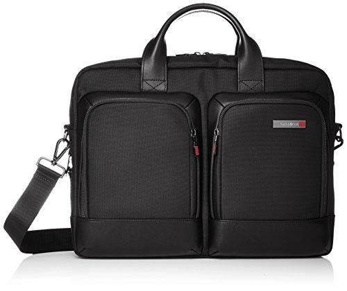 SAMSONITE Sefton 14.1 inch 16 Ltrs Black Softsided Briefcase (SAM SEFTON LP BG BLHNDL S BLK)