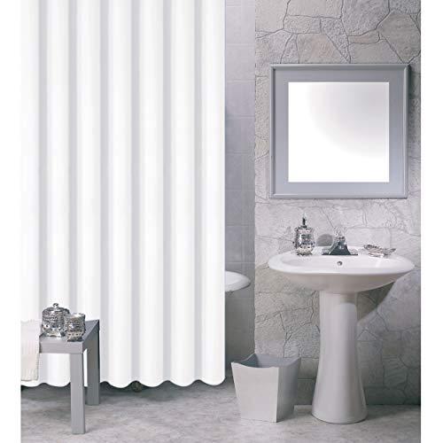 MSV 140030 Duschvorhang, PVA, 200x18x1cm, weiß