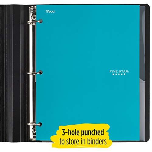 Five Star 4 Pocket Folders, 2 Pocket Folders Plus 2 Additional Pockets, Assorted Colors, 6 Pack (38058) Photo #4