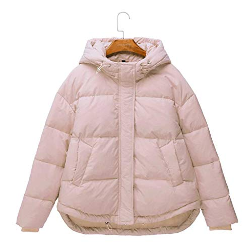 SXYTS Modern Dames Fashion Bib Hooded Down Jacket, Volwassen Rits Winddicht Jas