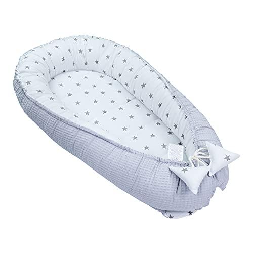 Cuna para bebé recién nacido - Kokon hecha a mano de algodón por ambos lados con Oeko-Tex