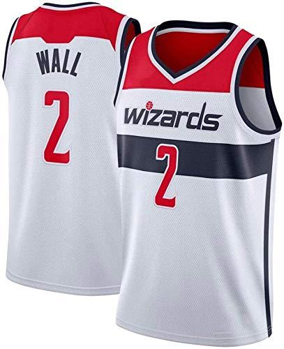 JAG Camiseta de Baloncesto Bordada John Wall 2#, Uniforme de los Wizards de Washington Nueva Temporada Traje Retro de la NBA, Swingman Unisex sin Mangas, S -XXL