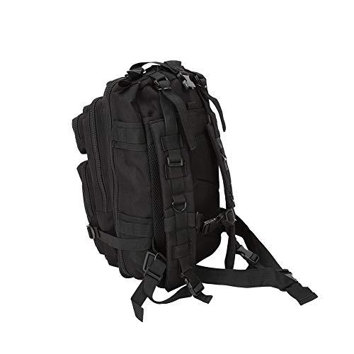 VGEBY1 Militärrucksack, Große Kapazität wasserdichte Rucksack für Outdoor Survival mit Druckgurten für Jagd Camping Wandern(Schwarz)